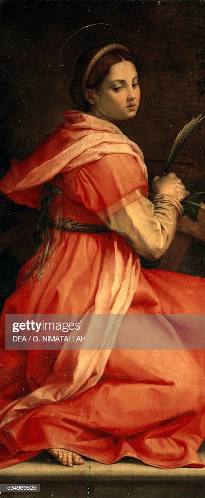 Saint Catherine of Alexandria ca 1530 by Andrea del Sarto Italy 16th century Pisa Museo Dell'Opera Del Duomo