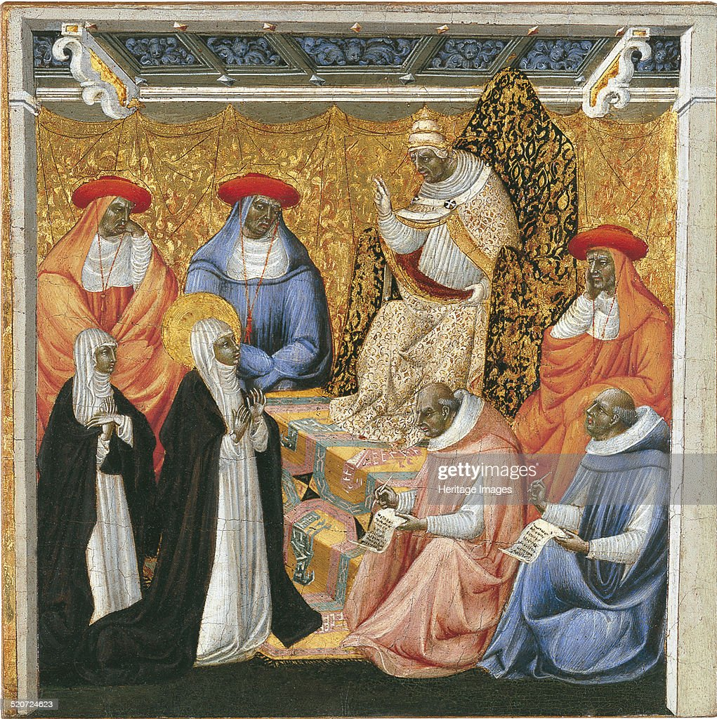 Saint Catherine of Siena before the Pope at Avignon Found in the collection of ThyssenBornemisza Collections