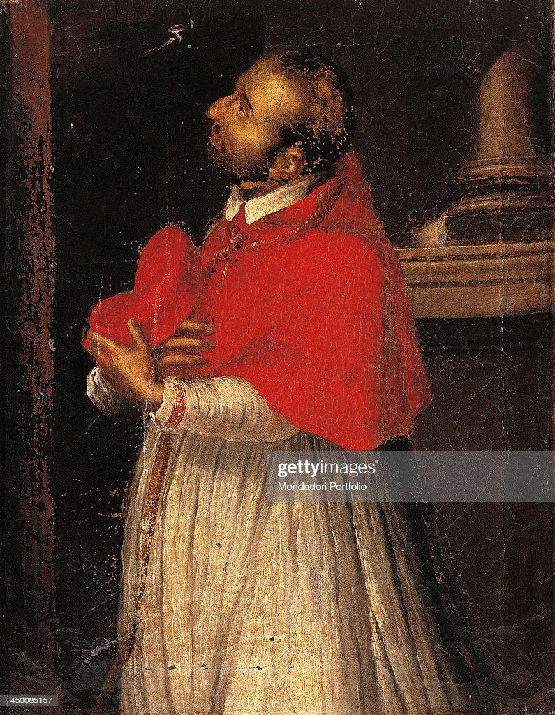 Saint Charles copy from Giovan Battista Crespi known as il Cerano 17th Century oil on canvas 48 x 37 cm