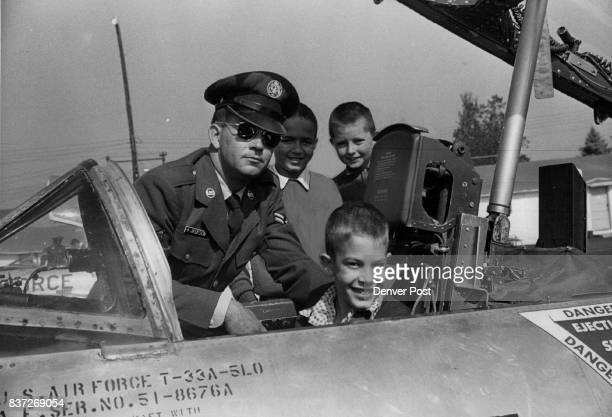 Saint Clara's Orphanage Denver Boulder Orphans ***** In the driver's seat of a Lowry Field TBirda T33 jet trainer planeis John Weiss of St Clara's...