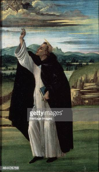 'Saint Dominic' 1490s Botticelli Sandro Found in the collection of the State Hermitage St Petersburg