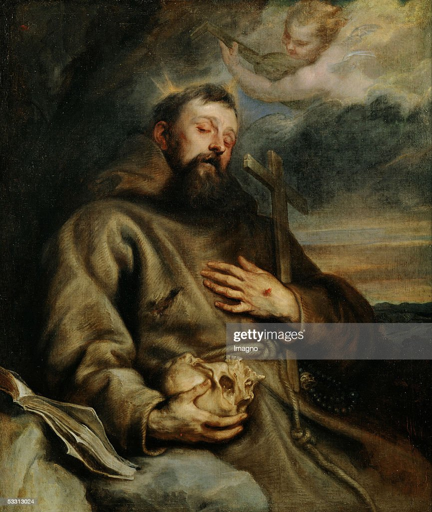 Saint Francis of Assisi, around 1627-1632. Canvas, 123 x 106 cm. Cat.1478. (Photo by Imagno/Getty Images) [Franz von Assisi. Gemaelde. 1627-1632.]