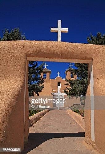 Saint Francis of Assisi church Taos entrance