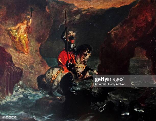 Saint George Fighting The Dragon Perseus Delivering Andromeda 1847 by Eugene Delacroix