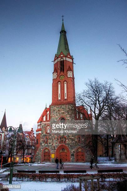 Saint George's winter dusk in Sopot