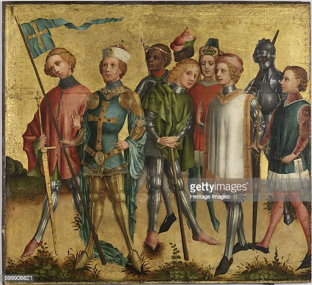 Saint Gereon of Köln with soldiers ca 1460 Found in the collection of Germanisches Nationalmuseum Nuremberg Artist Master of Cologne