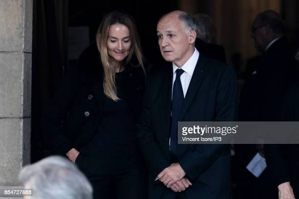 Saint Gobain CEO Pierre Andre de Chalendar attends the Liliane Bettencourt's funeral organized at the Saint Pierre Church on September 26 2017 in...