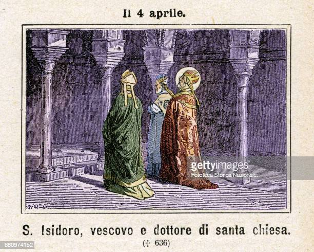 Saint Isidore of Seville theologian writer bishop and Doctor of the Church Author of numerous works including the forerunner encyclopedia...