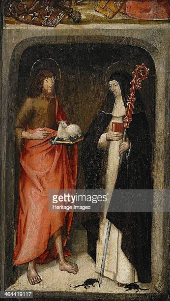 Saint John the Baptist and Saint Gertrude of Nivelles 1480 From a private collection