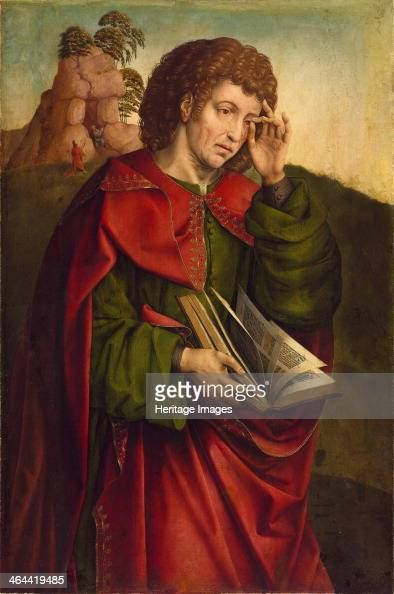 Saint John the Evangelist Weeping c 1500 Found in the collection of the Szepmuveszeti Muzeum Budapest