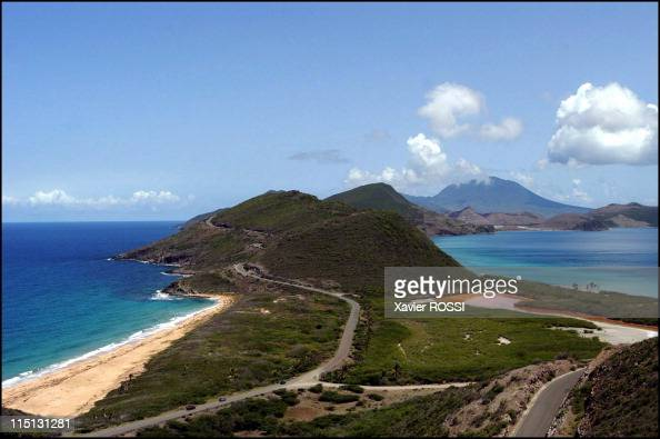 Saint Kitts And Nevis the island of Kim Collins World champion in September 2003 North Friar's Bay atlantic sea and South Friar's Bay caribbean sea