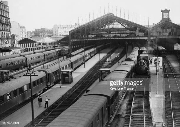 Saint Lazare Railway Station Sncf Strike In Paris On Septembe 1948