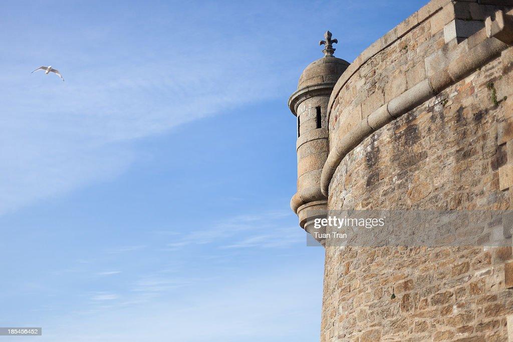 Saint Malo city wall, Brittany, France