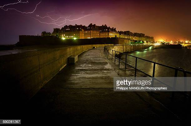 Saint Malo in the storm