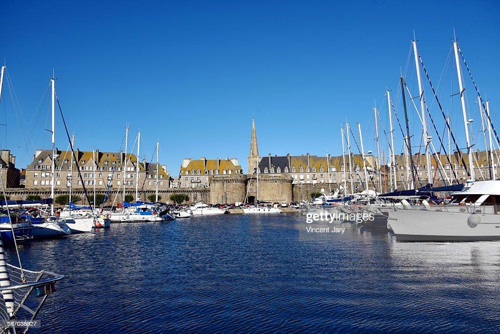 Saint Malo seascape in France
