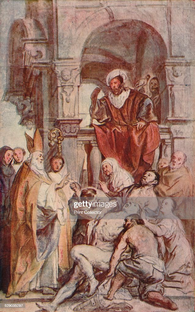 Saint Martin Healing a Possessed Man c 17th century After a study in chalk and water colour by Jacob Jordaens From The Studio Volume 29 [London...