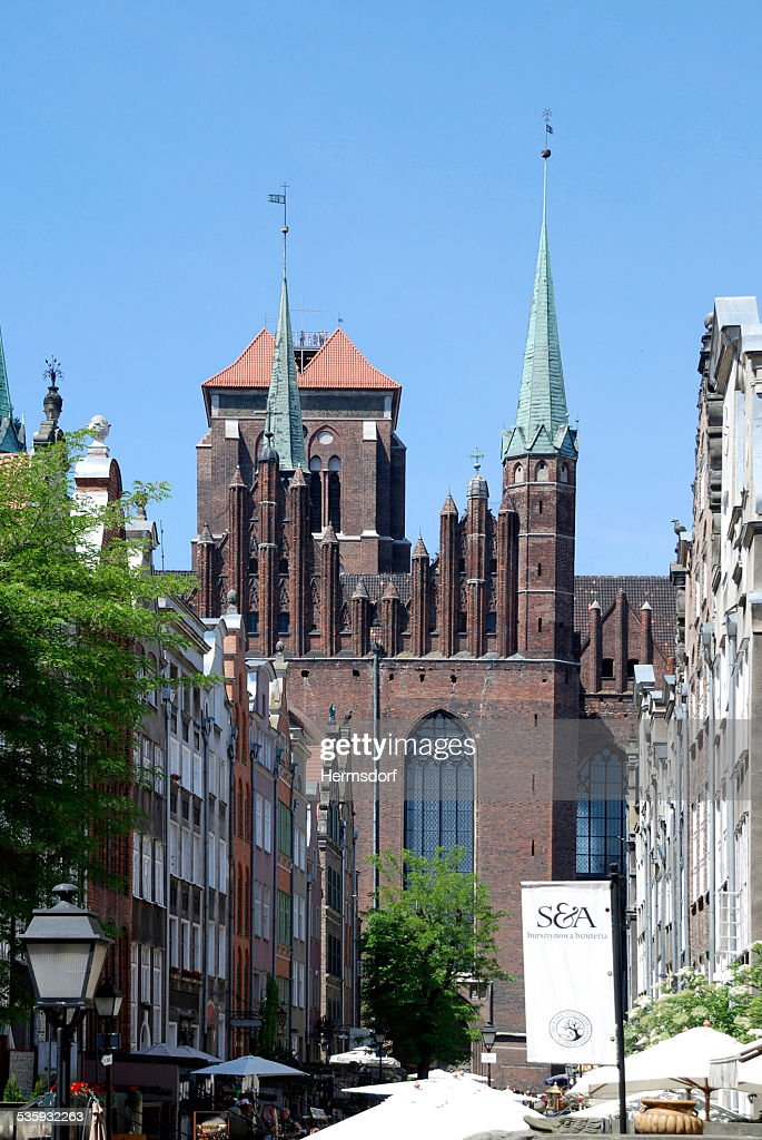 Saint Mary's Church of Gdansk in Poland : Stock Photo