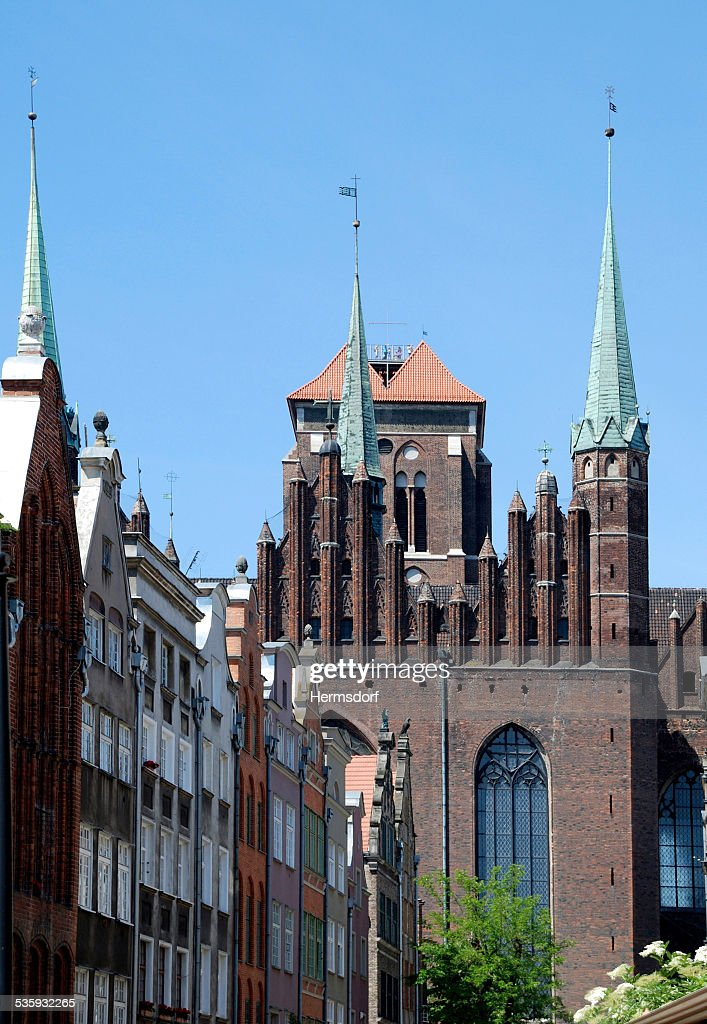 Saint Mary's Church of Gdansk in Poland : Stock Photo