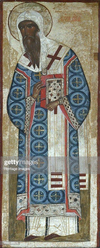 Saint Metropolitan Alexei of Moscow 16th century Found in the collection of the State Openair Museum KirilloBelozersky Monastery