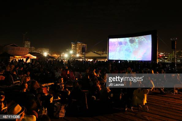 Saint Motel performs at Wes Anderson's 'The Grand Budapest Hotel' outdoor screening on October 17 2014 in Santa Monica California