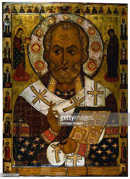 'Saint Nicholas of Lipna' 1294 Petrov Alexa Russian icon painting Found in the collection of the State Openair Museum of History and Architecture...