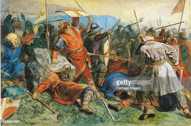 Saint Olav at the Battle of Stiklestad 1859 Found in the collection of National Museum of Art Oslo Artist Arbo Peter Nicolai