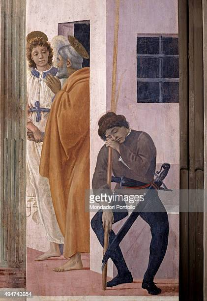 Saint Peter Being Freed from Prison by Filippino Lippi 14821485 15th Century fresco 230 x 88 cm Italy Tuscany Florence Church of Santa Maria del...