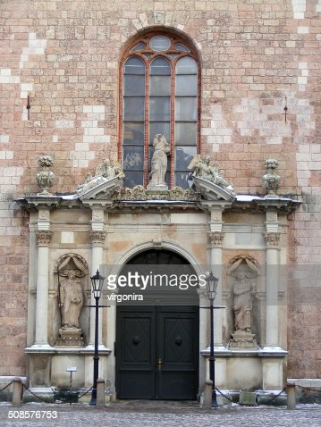 Saint Peter church entry : Stock Photo