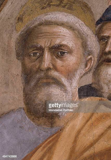 Saint Peter Healing the Sick with His Shadow by Masaccio 14251427 15th Century fresco 230 x 162 cm Italy Tuscany Florence Church of Santa Maria del...