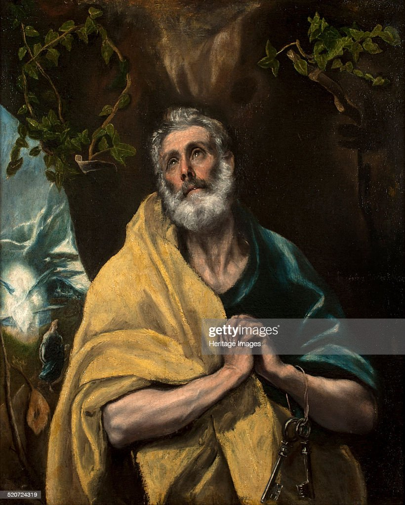 Saint Peter in Tears. Found in the collection of Museo del Greco, Toledo.