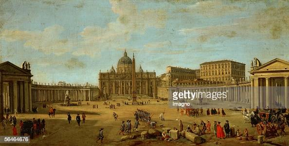 Saint Peter's basilica in Rome By Gaspar Adriaensz van Wittel Oil on canvas around 17001710 [Petersdom in Rom Von Gaspar Adriaensz van Wittel oel auf...