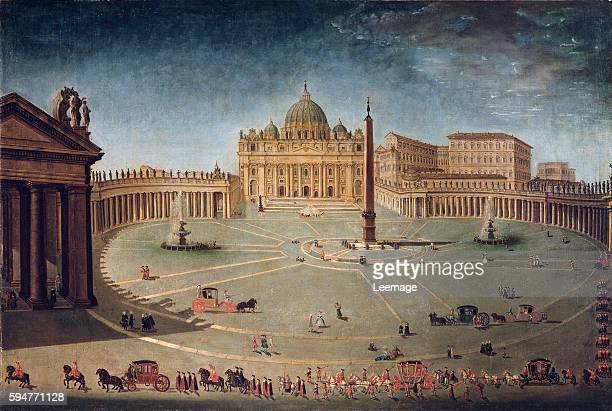 Saint Peter's Square in Rome Anonymous painting of the 17th century Villa di Poggio Imperiale Florence