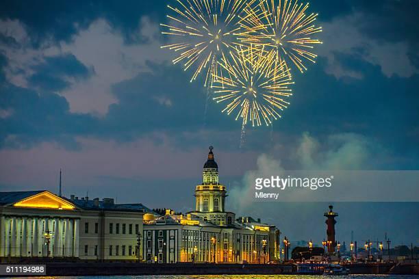 Saint Petersburg Feuerwerk Newa, Russland