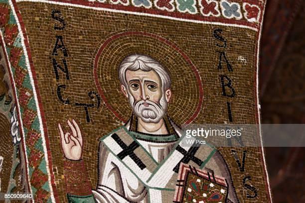 Saint Sabinus mosaic in Cappella Palatina Palazzo dei Normanni Palermo Sicily Italy