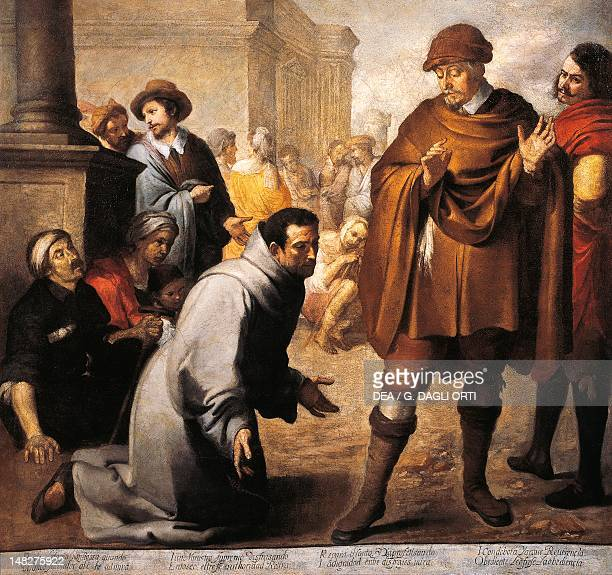 Saint Salvador of Horta and the Inquisitor of Aragon by Bartolome Esteban Murillo Bayonne Musée Bonnat