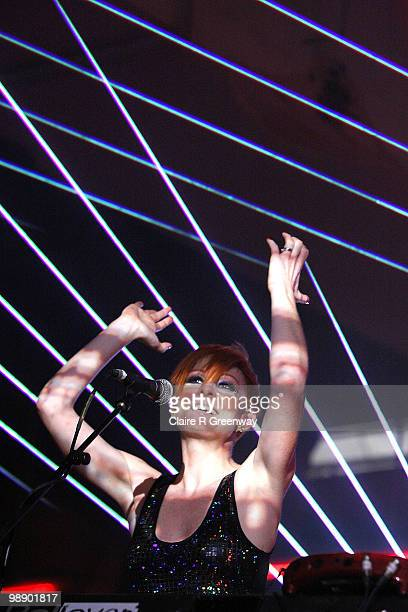 Saint Saviour performs live on stage with Groove Armada during a recording of the 'Evo Music Rooms' for Channel 4 in association with Punto Evo at...