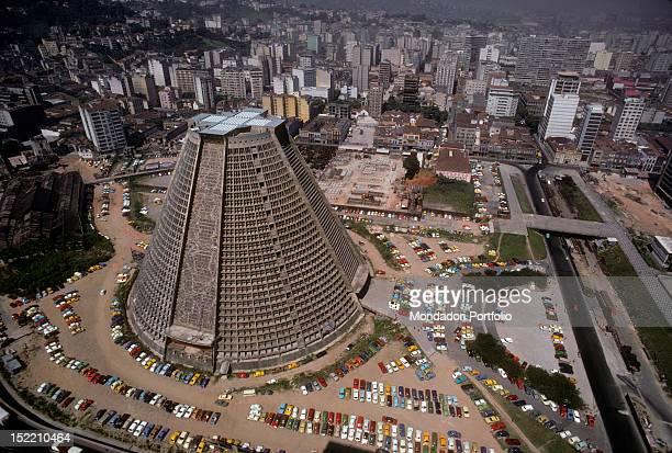 Saint Sebastian cathedral looming over the neighbourhood Rio de Janeiro May 1977
