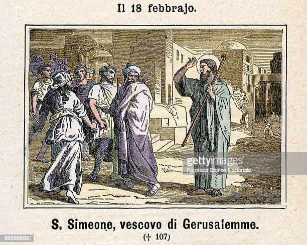 Saint Simeon I of Jerusalem the second bishop of the Church of Jerusalem 62107 successor to James the Just also called James the Less The two...