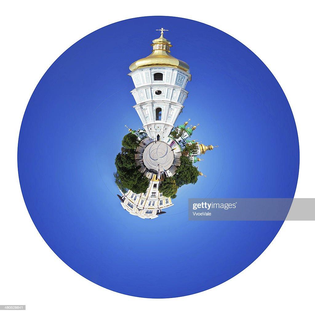 聖ソフィア大聖堂と Sophia スクエアキエフ : ストックフォト