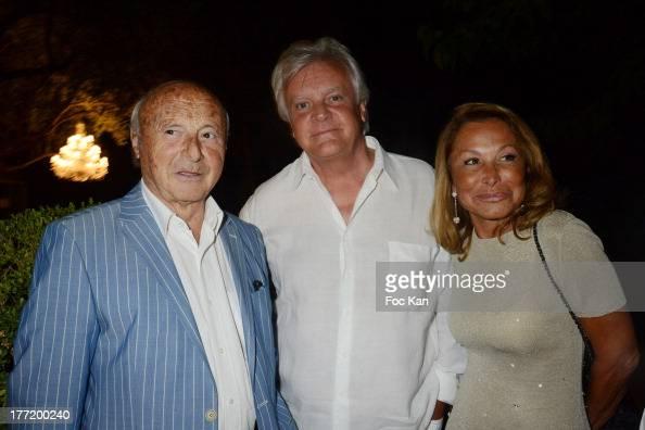 Saint Tropez mayor Jean Pierre Tuveri Richard Roizen and Mrs Roizen attend the Massimo Gargia's Birthday Dinner at Moulins de Ramatuelle on August 21...
