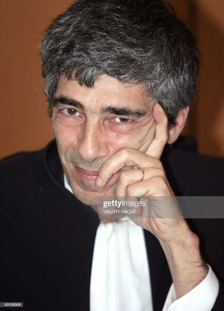 Patrick Elghozi laywer for Spaniard Francisco Arce Montes is pictured 27 June 2005 in SaintBrieuc west of France at the fifth day of the retrial of...