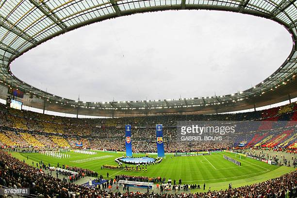 General view of the Stade de France taken before the UEFA Champion's League final football match Barcelona vs Arsenal 17 May 2006 at the Stade de...