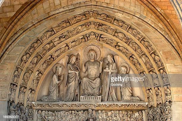 Sainte Chapelle tympanum The Last Judgment