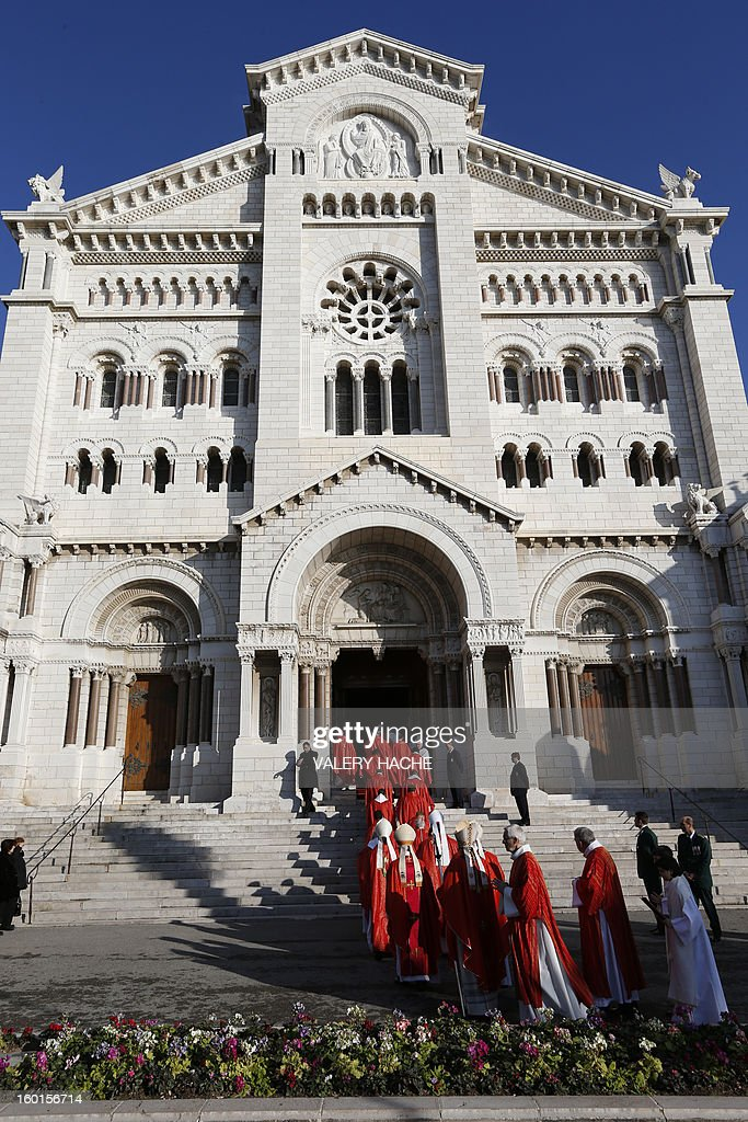 Sainte Devote (holly Devote) procession arrives at the Monaco Cathedral during the Sainte-Devote festivities, on January 27, 2013, in Monaco. Saint Devote is the patron saint of the Grimaldi family, reigning in Monaco, and is celebrated each year as a national holiday.