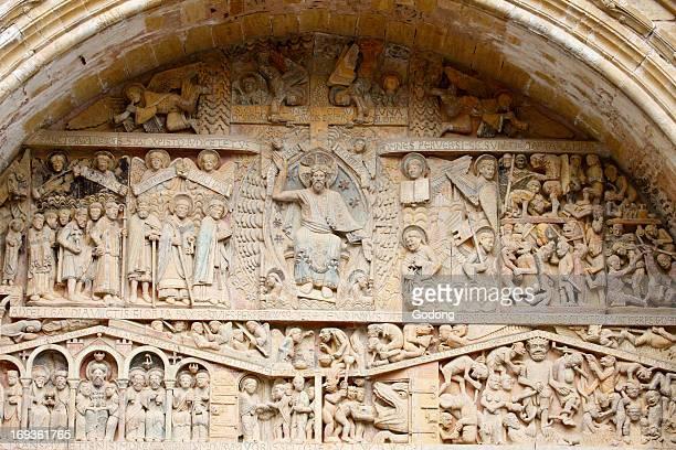 Sainte Foy abbey church tympanum Christ in Glory Last Judgment