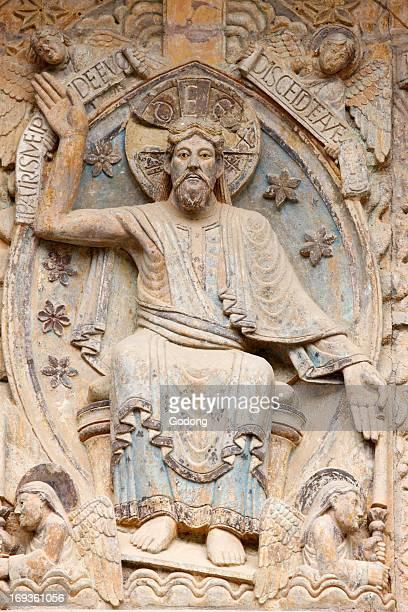 Sainte Foy abbey church tympanum Christ in Glory