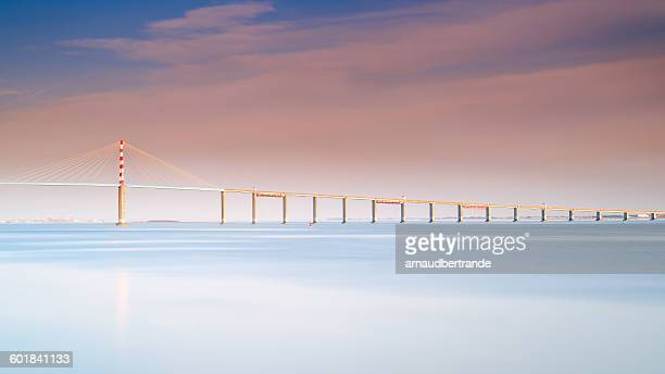 Sainte-Nazaire bridge over Loire river, Loire-Atlantique, France