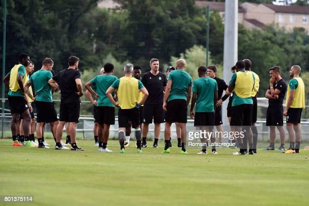 SaintEtienne's new head coach Oscar Garcia during the training session of AS SaintEtienne on June 26 2017 in SaintEtienne France