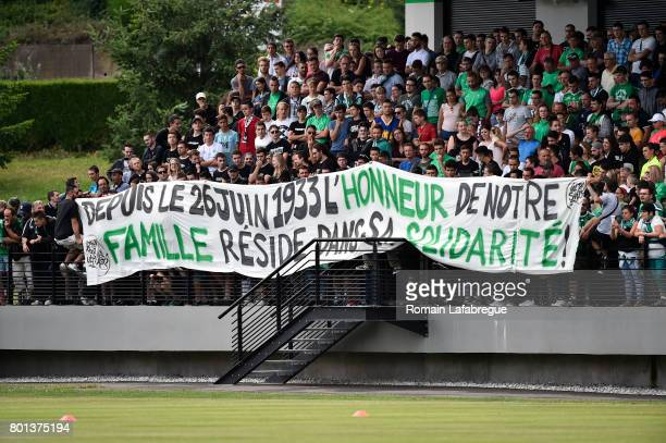 SaintEtienne's supporters during the training session of AS SaintEtienne on June 26 2017 in SaintEtienne France