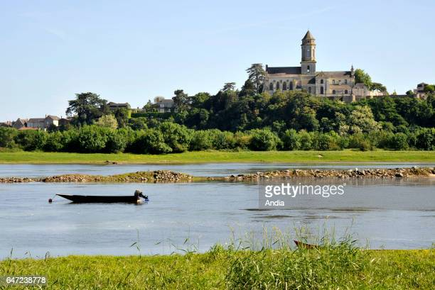 SaintFlorentleVieil Abbey church of SaintFlorent dating back to the 17th century overhanging the River Loire